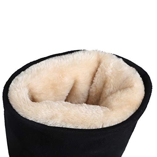 Long Women Black Taoffen Pull On Bowknot Boots h Flats xUxHnq4
