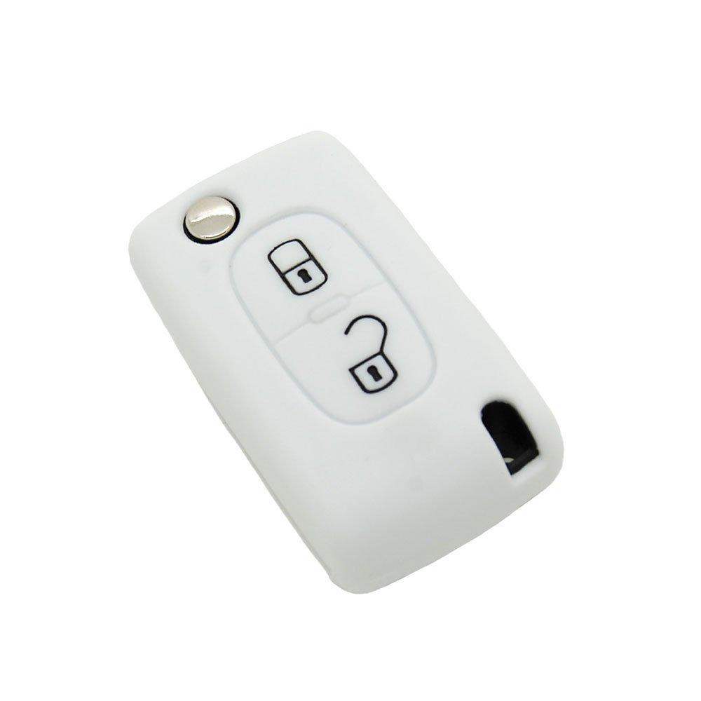 housse de cl/é en silicone pour Citro/ën C1 C2 C3 C4 C5 2 boutons
