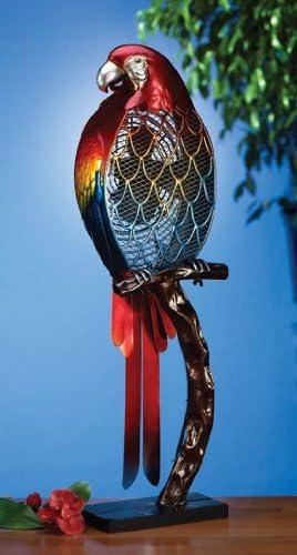 Tropical Parrot Bird Table Top Figure Fan
