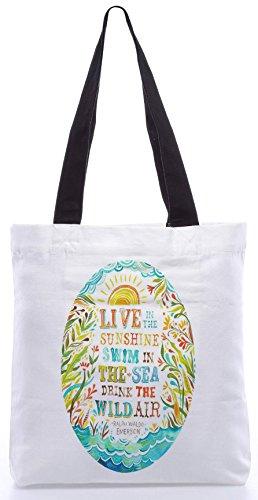Snoogg Live-Fully13.5 x 15 Zoll-Shopping-Dienstprogramm-Einkaufstasche aus Polyester-Segeltuch gemacht