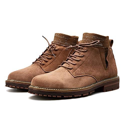 LOVDRAM Stiefel Männer Martin Stiefel Herren Herbstmode Kurze Stiefel Herren Retro Leder Stiefel Wild High to Desert Werkzeugschuhe Helfen