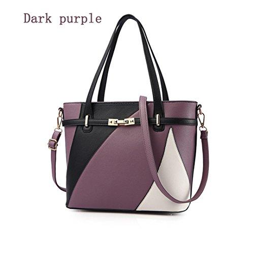 Bolsas para Mujer Designer Crossbody Bolsos Bolso para mujer bolsas de hombro de cuero pu de gran capacidad Bolso negro K1017 29cm 14cm 25cm Dark Purple