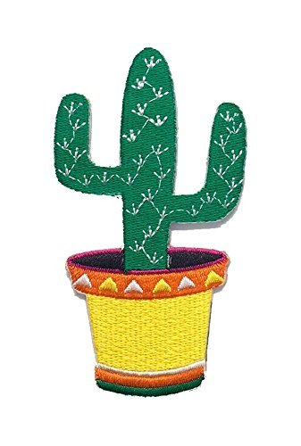 Parche para coser o planchar, diseño de cactus mexicanos