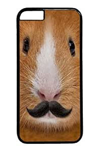 Big Face Incognito Guinea Pig PC Case Cover for iphone 6 plus 5.5 inch Black