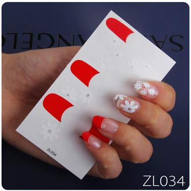 1PC Full Covered Nail Sticker Mixed Nail Art Polish Spring Summer Wraps DIY Nail Decor Manicure Beauty Accessory For Child Girls ZL034]()