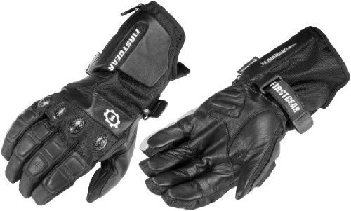 FirstGear Kilimanjaro Men's Waterproof/Breathable Textile Street Motorcycle Gloves - Black - 2X-Large