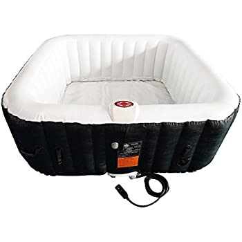 Amazon.com: ALEKO HTISQ6BKWH - Spa hinchable cuadrado para 6 ...