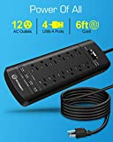 Power Strip, Witeem Surge Protector with 12-Outlet