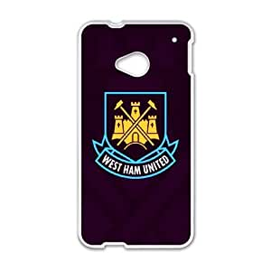West Ham United Logo_001 For HTC One M7 Cell Phone Case White pu1m0h_7600768
