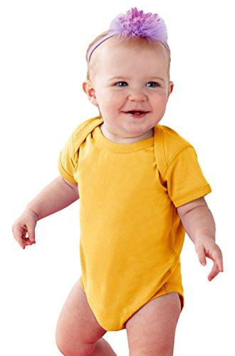 Rabbit Skins 4424 - Fine Jersey Infant Lap Shoulder Creeper