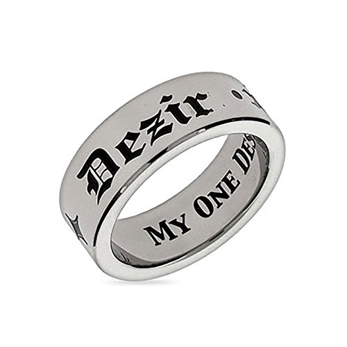 Eve's Addiction My One Desire Stainless Steel Poesy Ring Final Sale ()