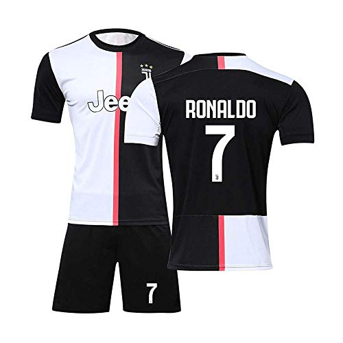 40db6dedd8520 JBIVWW Football Uniform Suit - Juventus Football Club Home C Ronaldo 7#  Jersey, 19-20 New Soccer Short-Sleeve T-Shirts and Shorts for Mens and Boys