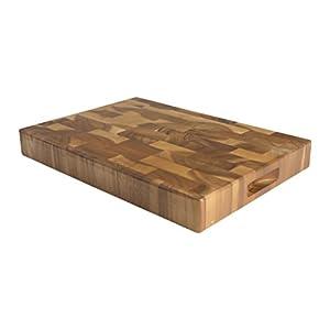 T&G Woodware - Tuscany - Tagliere rettangolare grande, con incavi per le dita, in legno di testa d'acacia - 45 x 30 x 40… 16
