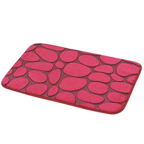 Pebble Mat (Iusun Floor Rug Mat, Rugs Pebble Memory Foam Bath Mat Floor Mat Doormats for Living Room Bedroom Kitchen Bathroom Home Decor (F))