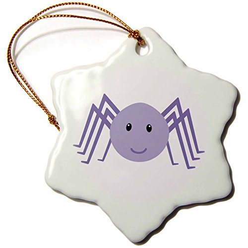 3dRose Cute cartoon spider - Snowflake Ornament, Porcelain, 3-inch (Spider Christmas Ornament)