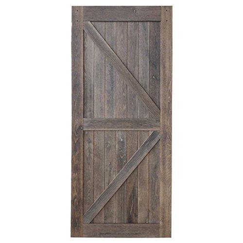 Plank Barn Antique Oak (Reclaimed Interior Sliding Barn Wood Door Slab 36/42 inch x 84 inch - Hardware NOT INCLUDED)