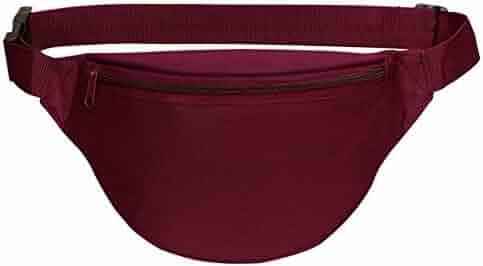 BuyAgain Fanny Pack, Unisex 2 Zipper Quick Release Buckle Travel Sport Running Waist Fanny Pack