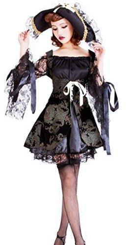 [NonEcho Victorian Lolita Costume Dress for Women] (Gothic Ballerina Halloween Costumes)