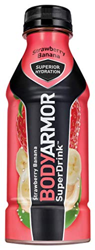 BODYARMOR Sports Drink Sports Beverage, Strawberry Banana, 16 Fl Oz (Pack of 12), Natural Flavors With Vitamins, Potassium-Packed Electrolytes, No Preservatives, Perfect For Athletes (16 Ounce Team Color)