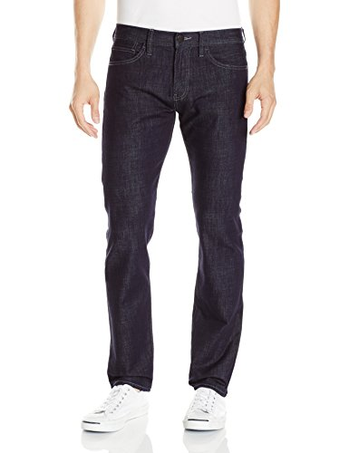 (A|X Armani Exchange Men's Straight Fit Denim Jeans, Dark Rinse, 36S)