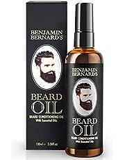 Baardolie Conditioner Olie door Benjamin Bernard Baardverzorging voor mannen - stimuleert gezonde baardgroei, een verzorgde baard - jojoba-olie en amandelolie Veganistische baardverzorging - 100 ml