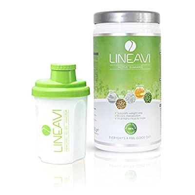 Lineavi Weight Loss Shake - The Natural Meal Replacement Powder For Your Diet Plan + Shaker, 17.6 oz