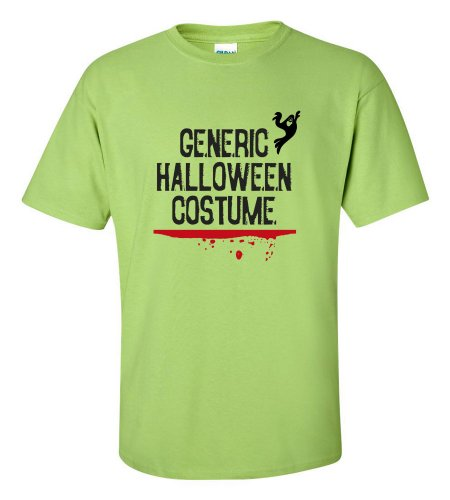 Green Man Costume Walmart (Generic Halloween Costume T-shirt Funny Scary-lime-XL)