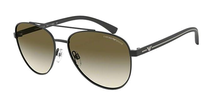 Emporio Armani 0EA2079 Gafas de sol, Matte Black, 58 para ...