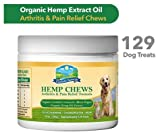 Fairfield Naturals Herbal Organic Hemp Dog Treats | Hip & Joint Supplement for Dogs with Msm, Glucosamine, Turmeric, Pure Hemp Oil & Organic Black Pepper - 129 Bacon Flavored Chews