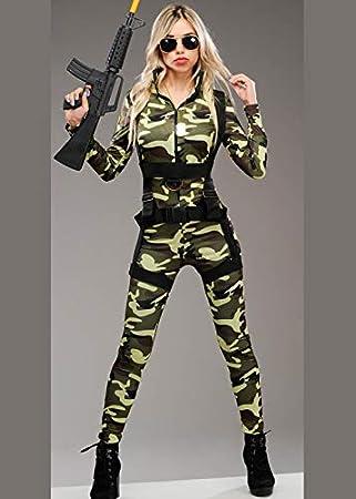 Magic Box Disfraz de Camuflaje Militar de Lujo para Mujer. S (UK 8 ...