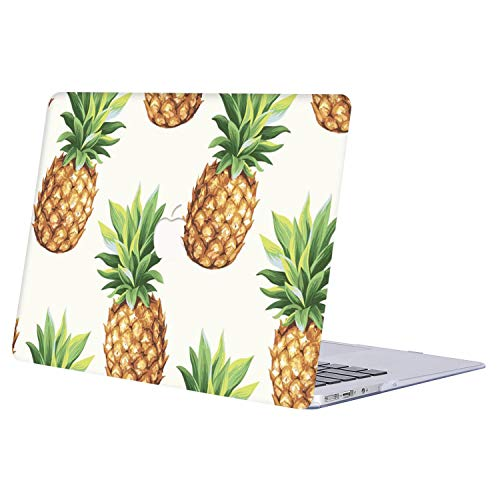 MacBook Air 13 Inch Case 2018 Release A1932, AJYX Plastic Hard Case Shell Cover Only for Newest MacBook Air 13 with Retina Display & Touch ID - Pineapple (Loose 201 Id)