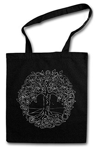 YGGDRASIL VI Hipster Shopping Cotton Bag Borse riutilizzabili per la spesa - Yggdrasill albero mitologia norrena Arsen Celtic Irminsul Tree Loki of Life Of Thor Odin Odhin Life