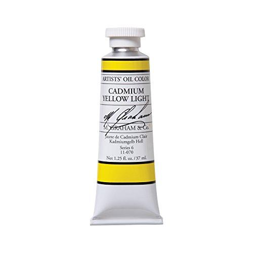M. Graham Artist Oil Paint Cadmium Yellow Light 1.25oz/37ml Tube