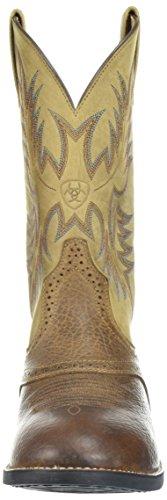 Ariat Homme Heritage Stockman Botte Western, Noix De Muscade, 7 D Us Chiné Marron / Beige
