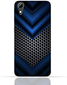 HTC Desire 626 TPU Silicone Case With Abstract Blue Mesh Pattern Design