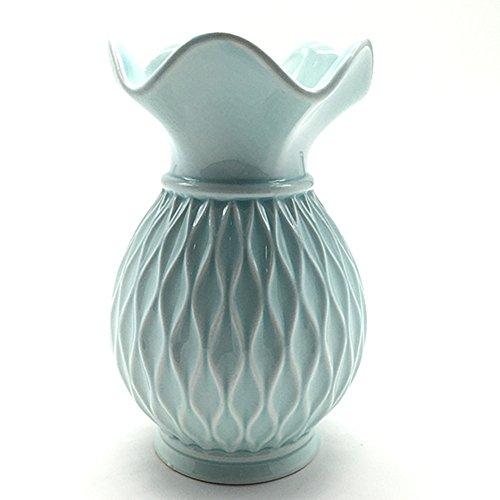 ANDING Ceramic Decorative Vase (Blue) Ceramic Vase by General