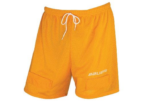 Bauer Core Mesh Jock Shorts, Orange, Men's,  (Bauer Mesh)