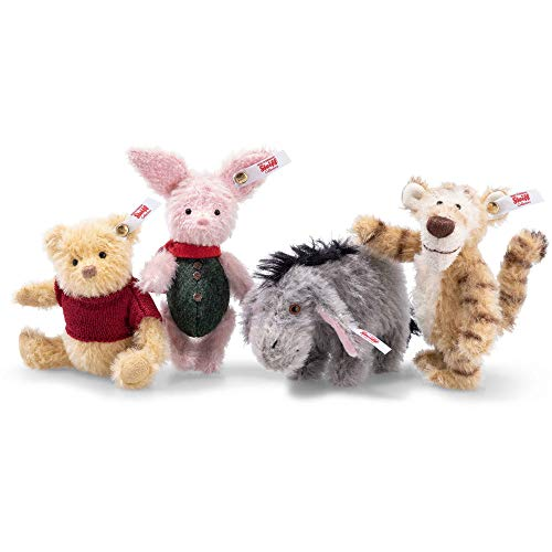 Steiff Christopher Robin Winnie The Pooh Mohair Set Of 4 Pieces 355417 With Traditional Methods Manufactured