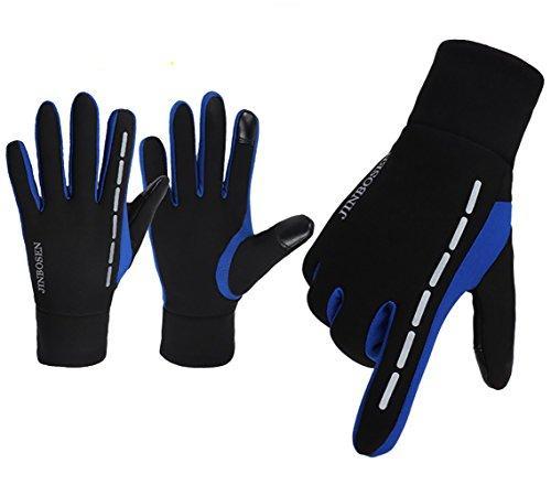 táctil antideslizante Black guantes ejecutan libre bicicleta deportes calientes Zhhyltt de lana Blue pantalla invierno de se aire en al Unisex que guantes de pZ4q1aFw