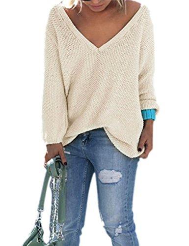 Ninimour Camiseta Fina de Punto de Corte Bajo Ropa de Playa para Mujer Beige