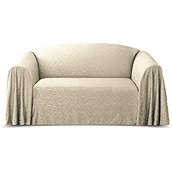 Amazon Com Plush Sofa Slipcover 1 Piece Vintage Lace