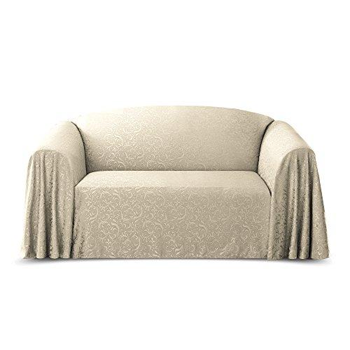 Stylemaster Brianna Jacquard Furniture Throw, Ivory Sofa