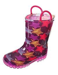 LILLY Girls'Starstreak Light-up Rain Boots