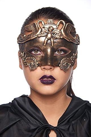 Cherub and Swan Gladiator Masquerade Mask (Unisex; One Size Fits Most; Gold) (Cherub Mask)