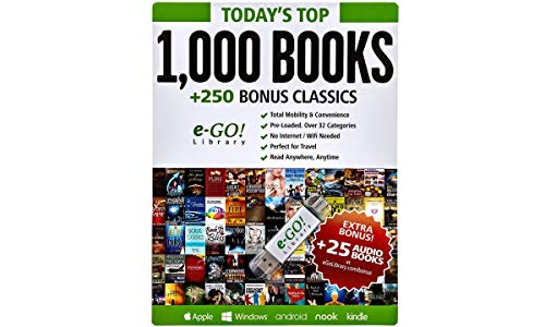 (e-GO! Library Today's Top 1000 Books with 250 Bonus Classics, Green)