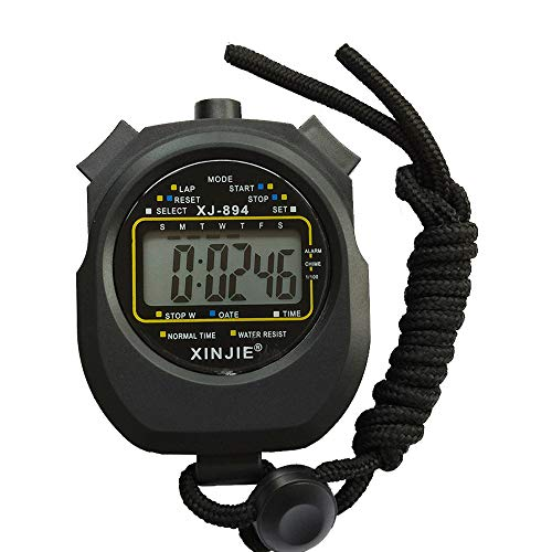 Next-Station Waterproof Digital Professional Sports Stopwatch Timer, Large Display with Date Time and Alarm Function,Ideal for Sports Coaches Fitness Coaches and Referees