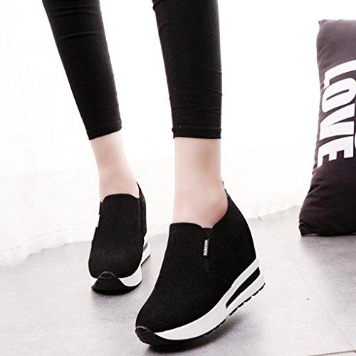 Keilstiefel Freizeitschuhe Schwarz Versteckt Stiefeletten Btruely Sneakers Sportschuhe Damen Mode Damen Mädchen Plateauschuhe Hacke Schuhe Schuhe qHgt0w