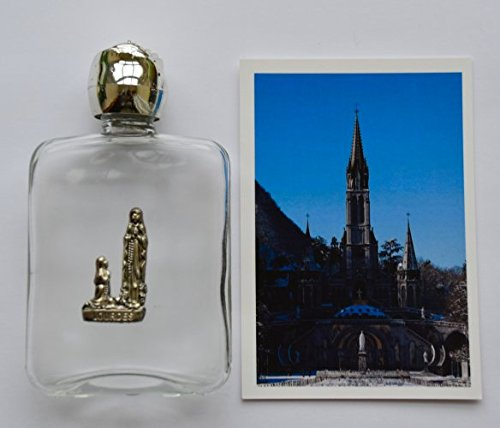 Lourdes Holy Water Vial Filled with Lourdes Holy Water & Lourdes Prayer Card. by DIRECT FROM LOURDES