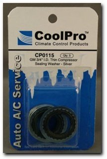 CoolPro GM 3/4' I.D. Thin Sealing Washer, Silver (CP0115) CoolPro Climate Control