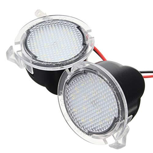 (2Pcs 9-16V LED Side Mirror Puddle Lights for Ford F150 Edge Explorer Kuga Expedition Taurus (Color :)